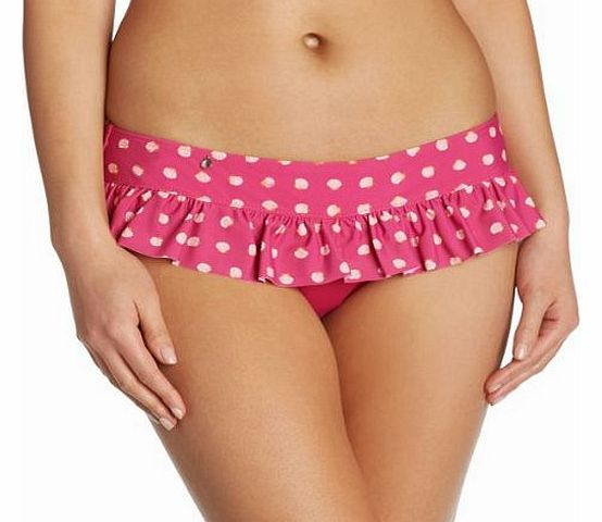 Curvy Kate Womens Seashell Skirted Brief Swim Shorts, Pink (Sorbet), Size 12