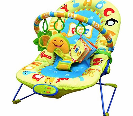 Cute Baby - Animal Letters - Recline Vibrating amp; Musical Bouncer