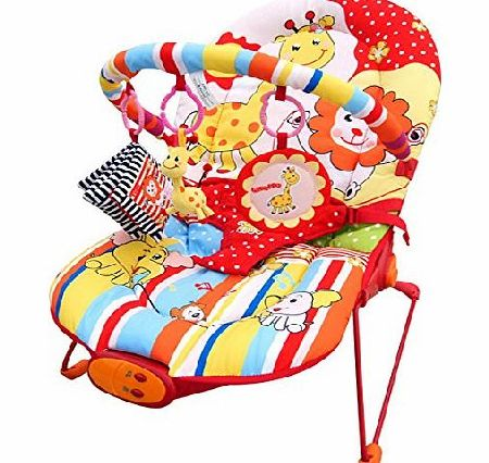 Cute Baby - Animal Paradise - Recline Vibrating amp; Musical Bouncer