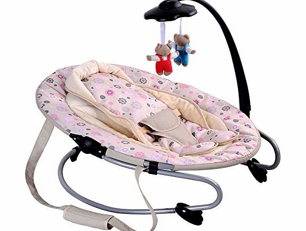 Cute Baby - Pink/Beige - 3 Position - Oval Bouncer