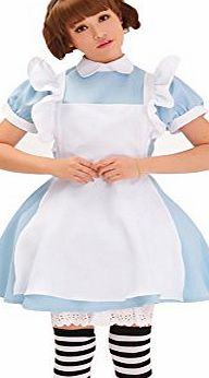 CuteMe New Blue Alices Wonderland Lolita Maid Cosplay Costumes Fancy Dress Set Apron, size M