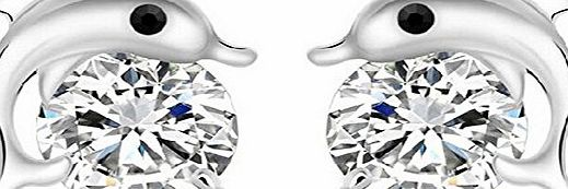 Da.Wa Classic Fashion Charming Silver Earring Lovely Dolphin Stud Earrings Fashion Jewellery