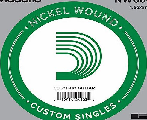 DAddario .060 Nickel Wound Single String for Electric Guitar