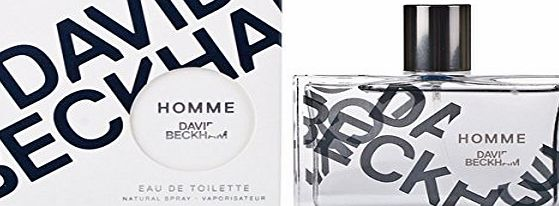 David Beckham Homme Mens Eau De Toilette Body Fragrance Scent 75ml Spray For Him