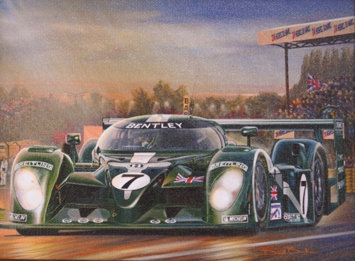 Framed print of Le mans Bentley