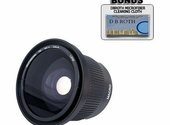 .42x HD Super Wide Angle Panoramic Macro Fisheye Lens For The Panasonic DMC-GX1, G3, GF3 Digital Camera Which Has A (14-42mm G X Vario PZ) Micro Lens