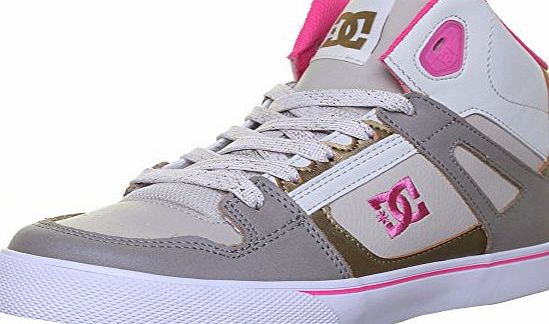 DC  Shoes Sparten High Se Junior Leather Matt Trainers (5 Child Uk, Natural EK)