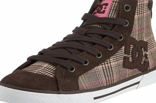 DC Womens Chelsea Mid Lace-Up Dk Choce/Plaid D0302278 3 Uk