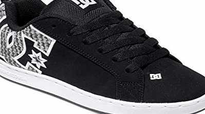 DC Womens DC Shoes Court Graffik Suede Low Top Casual Skate Shoes Trainers - White/Green Plaid - 4