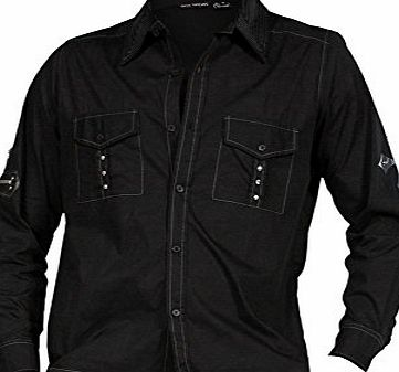 Dead Threads Crucifix Gothic Punk Heavy Metal Mens Long Sleeve Shirt Black M