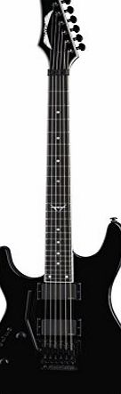 Dean Guitars C550F CBK L Dean Custom Left Handed Electric Guitar with EMG Pickups and Floyd Rose - Classic Black