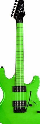 Dean Guitars Dean Custom Zone Solid Body Electric Guitar with 2 Humbuckers - Florescent Green