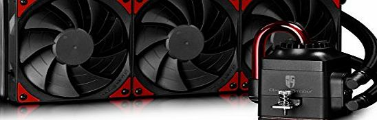 Deepcool  CAPTAIN360 EX Visible Liquid Cooling Water Cooler Liquid Cooler Red LED Light 360mm Radiator Quiet Fan