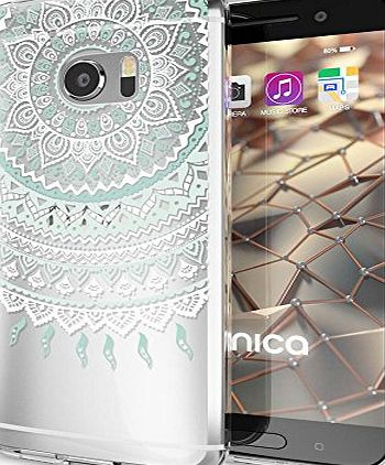 delightable24 Premium Protective Case TPU Silicone HTC 10 Smartphone - Mandala Blue Cyan