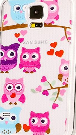 delightable24 Thin Protective Design Case TPU Silicone SAMSUNG GALAXY S5 / S5 NEO Smartphone - Owls
