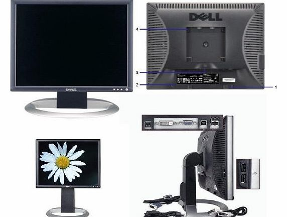 19`` UltraSharp 1905FP Flat Panel LCD Monitor with DVI/VGA/USB Connectors - Height Adjustment & Rotates to Portrait or Landscape View!