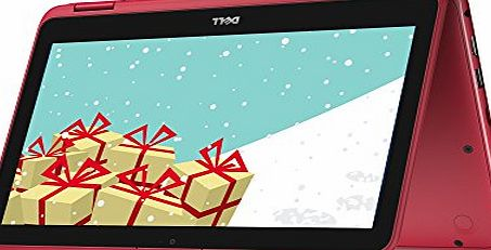 Dell Inspiron 11 3000 Series 11.6 inch Touchscreen Convertible Laptop (Intel Celeron N3060, 2 GB RAM, 32 GB eMMC, HD) - Red