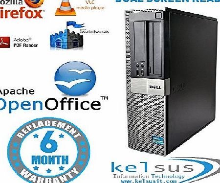 Dell Mini Dell Core 2 Duo 960 OptiPlex 3GHz Desktop Computer Tower - Office PC - Windows 7 Home Premium x64 - Eligible to Windows 10 upgrade - WLAN / Wifi Enabled - VGA / DisplayPort / DVI (optional with a