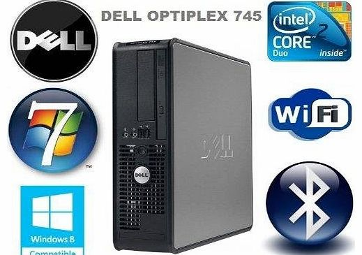 OptiPlex 745 Wi-Fi Enabled Powerful Multi-tasking Desktop PC - Intel Core 2 Duo Processor - 160GB Hard Drive - 4GB Memory - DVD-ROM - Bluetooth Adapter - Windows 7 (Compatible with Windows 8)