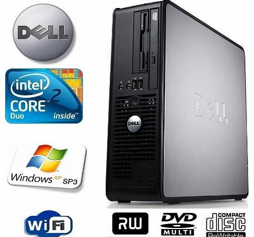 OptiPlex 755 Small Form Factor (SFF) Multitasking Desktop Computer - Powerful Intel Core 2 Duo E6850 3.0GHz - 160GB Hard Drive - 4GB Memory (RAM) - DVD ReWriter - Windows XP Professional Service