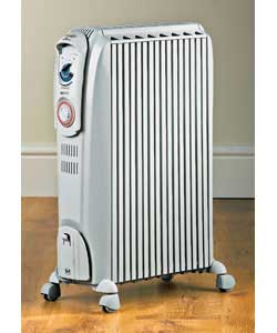 DeLonghi Dragon Oil Filled Radiator with Timer White 2 kW