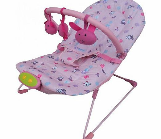 Delta UNISEX BABY ROCKER BOUNCER CHAIR SOOTHING HANGING TOYS 5 ADJUSTABLE LEVELS PINK