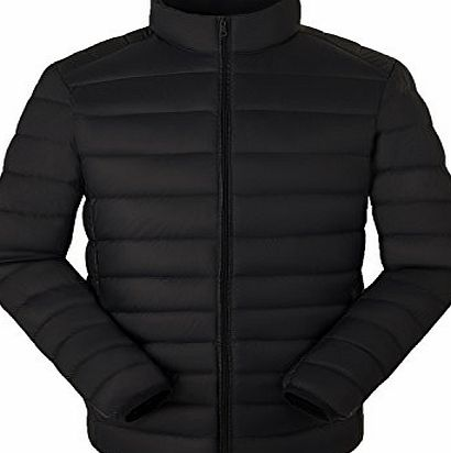 Demetory Mens Packable Lightweight Down Jacket (X-Small/Tag Asian S,Black)