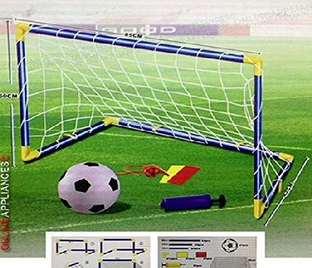Denny International Kids/Children Foorball Goal Post Net Ball With Pump Whistle Toy Indoor/Outdoor Soccer (603 Single)