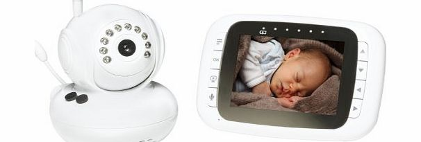 Denver SC-16 Baby Monitor with Pan/Tilt, Nightvision, Room Temperature Display, 2-Way Audio, Timer, 3 * lullaby amp; 3.5 inch colour monitor