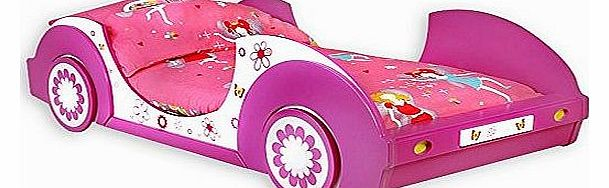 Girls single bed frame junior Bed for Girl 90x200cm Pink Butterfly Flowers Bedroom