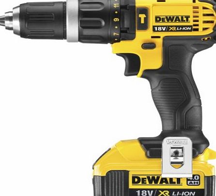 DEWALT  18V Lithium-Ion 2-Speed Combi Drill Complete with 4Ah Batteries