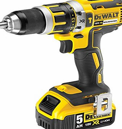DEWALT  DCD795P2-GB 18V XR Brushless Compact Lithium-Ion Combi Drill with 2 x 5Ah Batteries