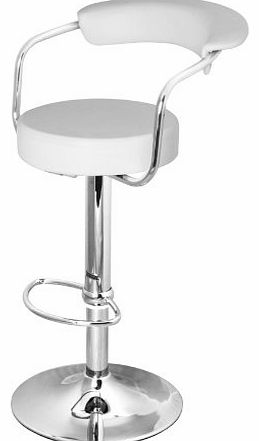DF Sales Ltd DF Sales Lamboro Zenith bar Stool, White