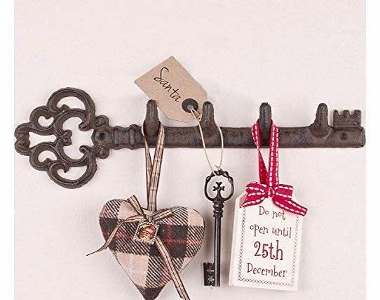 Traditional Cast Iron Wall Key Rack Store 29cm - A brilliant 6th Anniversary Gift!