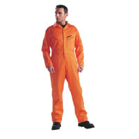 Mens Firechief Pyrovatex Overall Orange 40 Tall Leg
