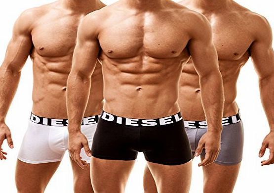Diesel Mens 3 Pack Shawn Boxer Trunks (Medium, Black)
