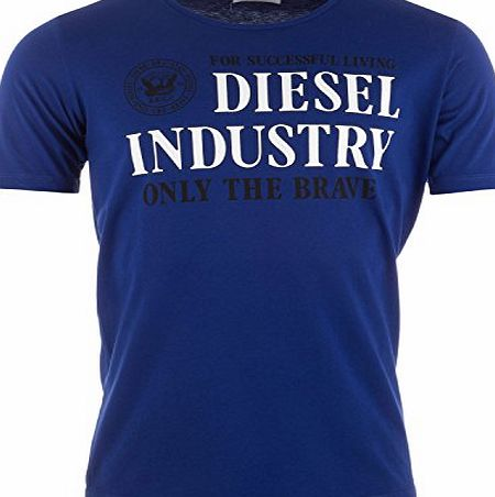 Diesel Mens Diesel T-Shirt In Various Colours, Blue, Small