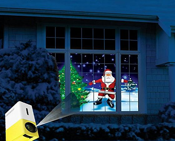 Digi4U  Christmas Rear Window Video FX Effect Projection Projector Santa Snow Decoration Holiday Projector Kit