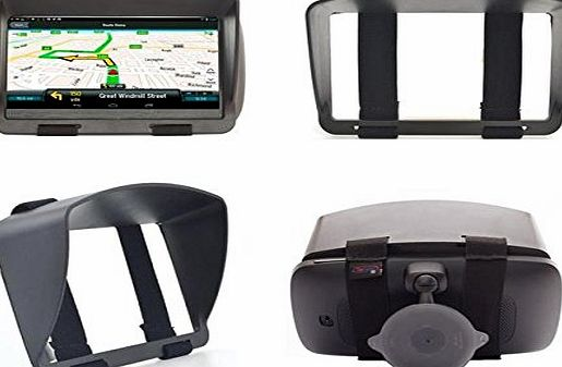 Digicharge Sun Shade Visor Screen For TomTom GO 5000 500 400 Sat Nav GPS Anti Glare and Night Reflection