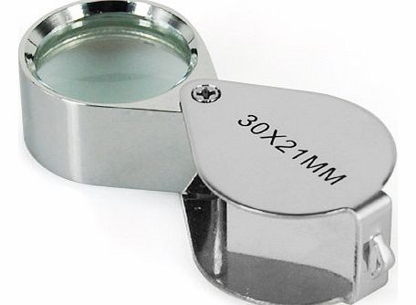 Jewellers Loupe 30 x 21mm Glass Jewellery Antiques Magnifier Hallmark Eye Lens