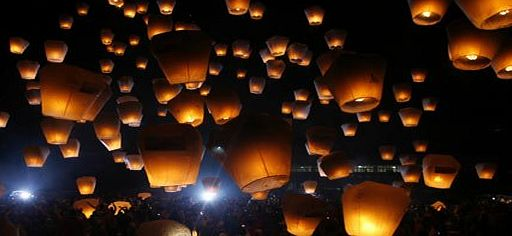 Digital Additions 20 x Eco-Friendly Sky Lanterns for Christmas, New Year, Chinese New Year, New Years Eve, Weddings amp; Parties (40cms 58cms x 105cms) (White)