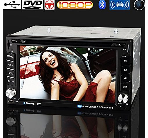 discoball 6.2 inch Dash Double DIN Car CD DVD Player Digital Touch Screen Stereo A/FM MP3