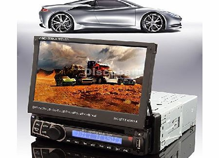 discoball  7 Iinch Car DVD Player 1 Din in Dash Touch Screen Bluetooth Stereo FM Radio iPod USB Detachable amp; fully Auto