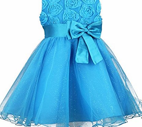 discoball Girls Flower Formal Wedding Bridesmaid Party Christening Dress Children Clothing Girls Lace Dress Princess Dresses Kid Baby Clothes age 2-12 years (2-3years, purple)