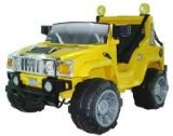 Yellow BIG Double Seater Hummer Style Jeep 12v Battery Powered