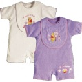 DISNEY BABY pack of two winnie the pooh rompers