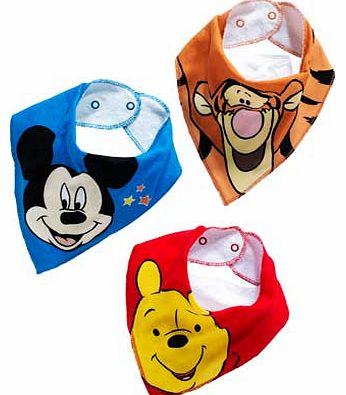 Character Boys Bandana Bibs 3 Pack - One