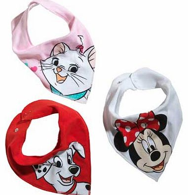 Character Girls Bandana Bibs 3 Pack -