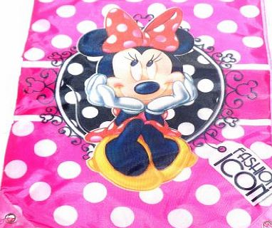 Childrens Kids Girls Boys Disney Pixar Swim Shoe Bag Tote School Nursery Bag - Mickey Mouse, Minnie Mouse, Princess, Cars, Tinkerbell, Toy Story, Monsters Inc, Spiderman, Jake (Minnie Mouse - Fashion