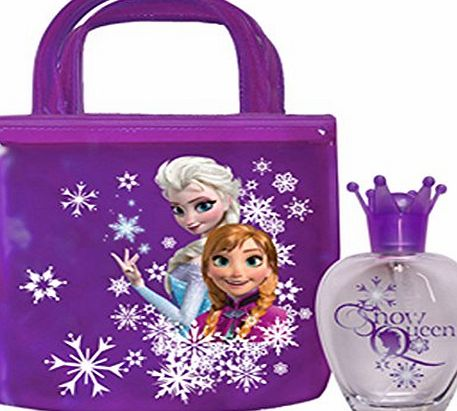 Disney Frozen Eau De Toilette Children Fragrance and Printed Tote Bag Gift Set 50 ml
